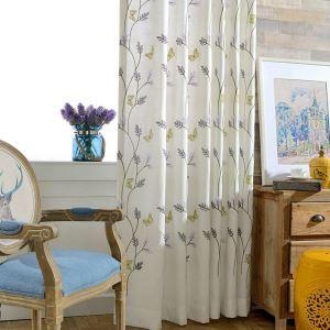 Moderner Vorhang Schmetterlinge Blumenzwig Design im Wohnzimmer