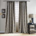 Moderner Vorhang Grau Gedrucktes Muster Design im Wohnzimmer