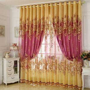 Luxus Gardine Jacquard Design im Schlafzimmer