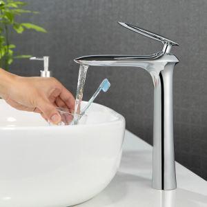 Moderne Waschtischarmatur Einhandmischer Chrom im Badezimmer