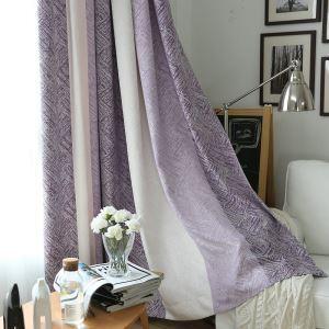 Minimalismus Vorhang  Lila Streifen Design im Wohnzimmer