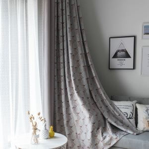 Moderner Vorhang Blätter Design im Wohnzimmer