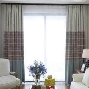 Moderner Vorhang Streifen Jacquard im Wohnzimmer
