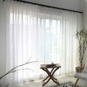 Minimalismus Gardine Weiß Unifarbe im Wohnzimmer