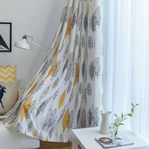 Moderner Vorhang Blätter Design im Schlafzimmer