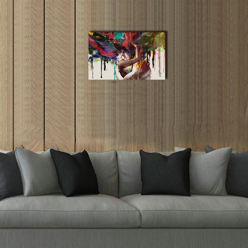 Moderne Wandbilder ohne Rahme Liebhaber für Wohnzimmer