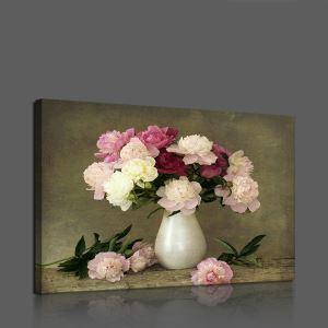 Leinwandbild Blumen in der Vase ohne Rahme im Esszimmer