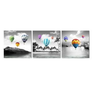 Wandbild Modern Heißluftballon Design ohne Rahme im Wohnzimmer