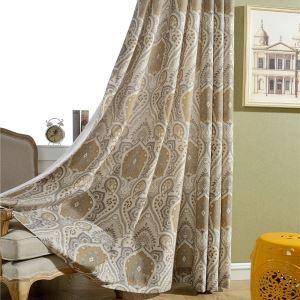 Landhaus Vorhang Blumen Lucxus Design im Wohnzimmer