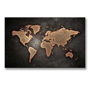 Leinwandbild Weltkarte ohne Rahme im Schlafzimmer