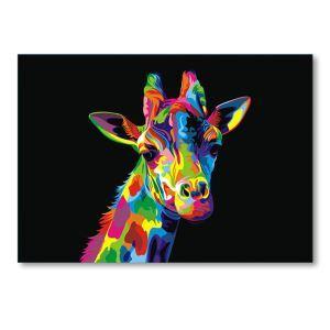 Dekorative Wandbilder ohne Rahme Giraffe für Wohnzimmer