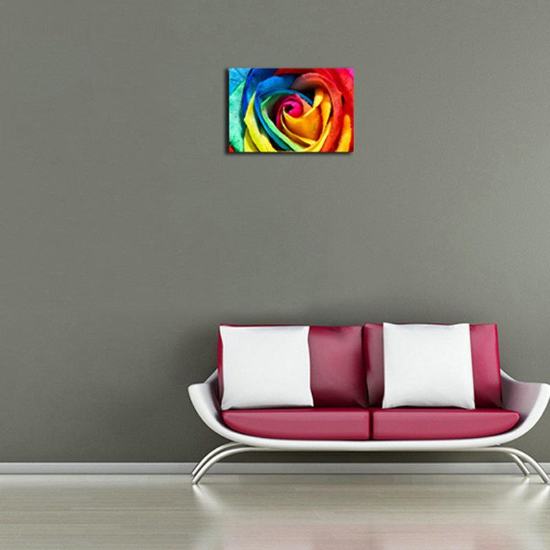 Moderne Wandbilder ohne Rahme Mehrfarbige Rosen für Wohnzimmer