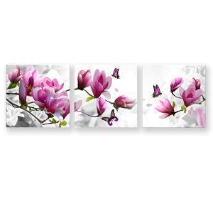 Leinwandbild Modern Blumen Design ohne Rahme im Wohnzimmer