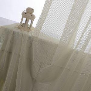 Minimalismus Gardine Weiß Feines Net Design im Wohnzimmer