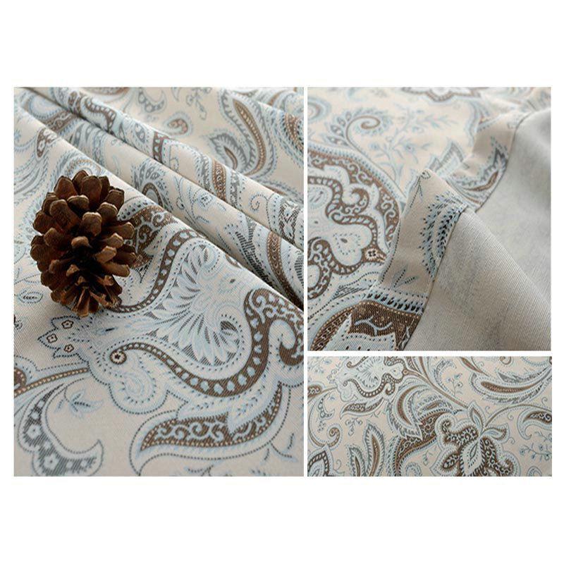 landhaus vorhang abstrackt blumen design im schlafzimmer. Black Bedroom Furniture Sets. Home Design Ideas