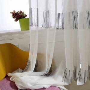 Minimalismus Gardine Barcode Design Weiß im Wohnzimmer