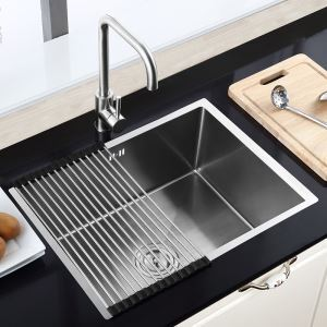 Moderne Einbauspüle Edelstahl Spülbecken Eckig für Küche HM6045