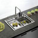 Moderne Einbauspüle Edelstahl Spülbecken Eckig für Küche GN6045