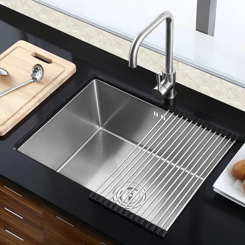 Super Einbauspüle Edelstahl Spülbecken Modern für Küche HM5040 GS75