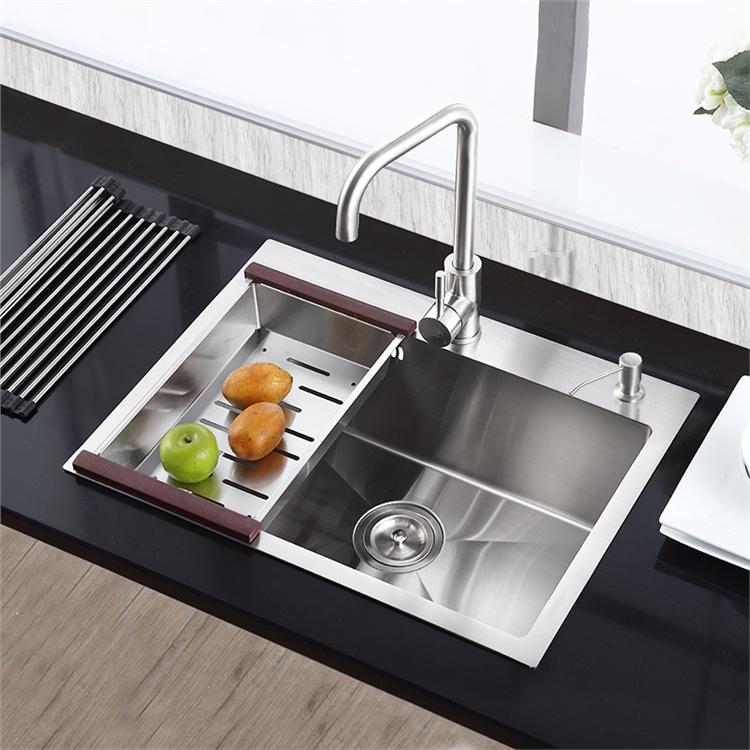 Extrem Moderne Einbauspüle Edelstahl Spülbecken Eckig für Küche HM6545 GD04