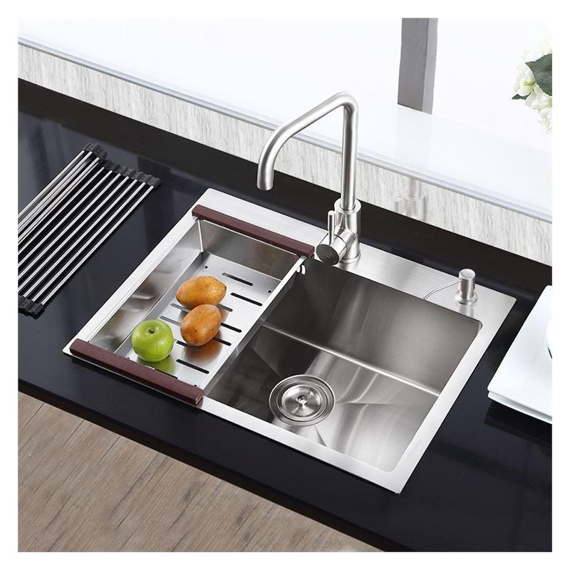 Moderne Einbauspüle Edelstahl Spülbecken Eckig für Küche HM8