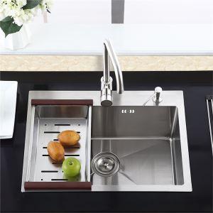 Einbauspüle Edelstahl Spülbecken Modern für Küche HM7245
