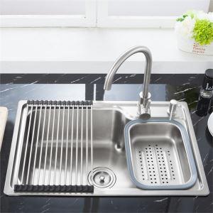 Moderne Einbauspüle Edelstahl Spülbecken für Küche S6845
