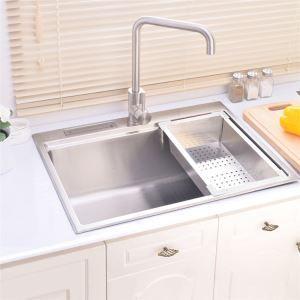 Moderne Einbauspüle Edelstahl Spülbecken für Küche 6245L