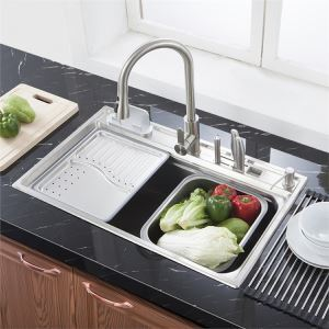 Moderne Einbauspüle Edelstahl Spülbecken Eckig für Küche MF7848A