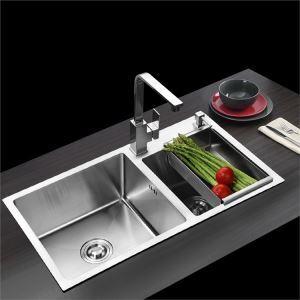 Edelstahlspüle Spülbecken Modern für Küche 80*45cm