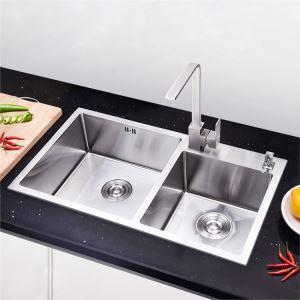 Einbauspüle Edelstahl Spülbecken für Küche 78*43cm