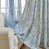 Zeige Details für Minimalismus Vorhang  Blau Blumen Muster Design im Wohnzimmer