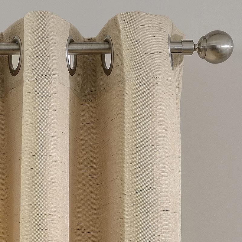 Modern Vorhang Beige Unifarbe Im Schlafzimmer