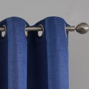 Modern Vorhang Blau Unifarbe im Schlafzimmer