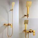 Duscharmatur mit Handbrause Wandmontage in Ti-PVD Gold