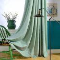 Minimalismus Vorhang Grün Geometrie Muster Design im Wohnzimmer