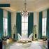Zeige Details für Vorhang Unifarbe aus Samt im Schlafzimmer