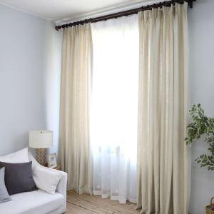 Vorhang Modern Unifarbe aus Polyester