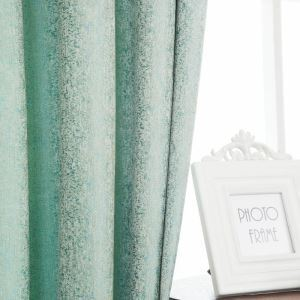 Moderner Vorhang mit Mintgrün Punkt Jacquard aus Chenille-Stoff