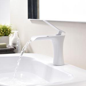 Waschtischmischer Einhebel in Weiß für Badezimmer