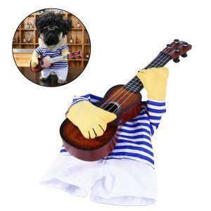 Kostüme Bekleidung für Hunde Katze T-Shirt mit Gitarre für Partys Festivals