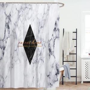 Europäische Stil Duschvorhang Marmor Textur geometrische Muster Wärmehaltung