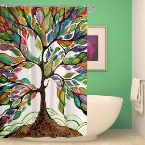 Kreativer Duschvorschlag mit buntem ökologischem Baum Motiv