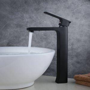 Waschtischmischer Einhebel für Waschbecken in Schwarz im Badezimmer