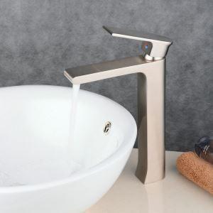 Waschtischmischer Einhebel für Waschbecken Nickel Gebürstet im Badezimmer