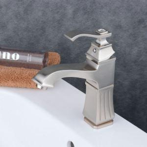 Einhebelmischer für Waschbecken Nichel Gebürstet im Badezimmer