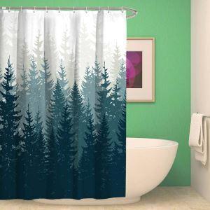 Moderner Duschvorhang mit Baumschatten Motiv Wasserdicht und Anti-Schimmel