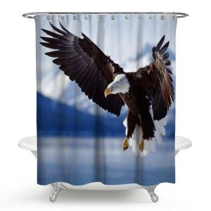 3D-Effekt Duschvorhang mit einzigartigem Adler Motiv