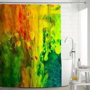 Kreativer Duschvorhang von Ölmalerei Stoffdruck Muster