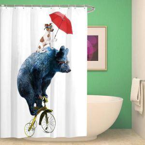Kreativer Duschvorhang von liebem Panda Tiermotiv Wasserdicht und Anti-Schimmel